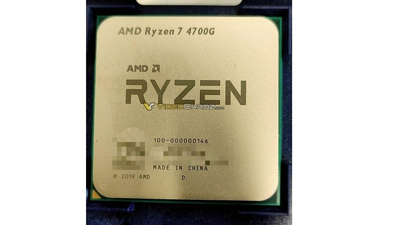 First picture of AMD Ryzen 7 4700G